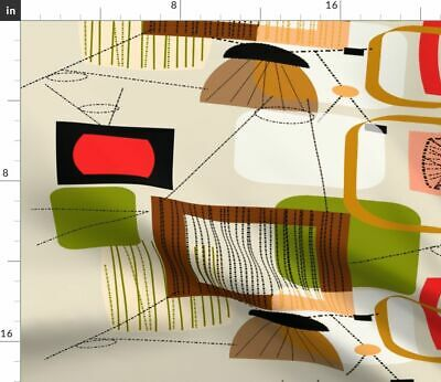 Mid-Century Modern Midcentury Abstract Vintage Fabric Printed by Spoonflower BTY