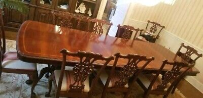 Chippendale Dining Room Set - Table and 10 Chairs