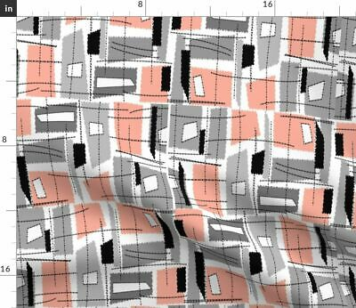 Mid-Century Modern Abstract Vintage Inspired Fabric Printed by Spoonflower BTY