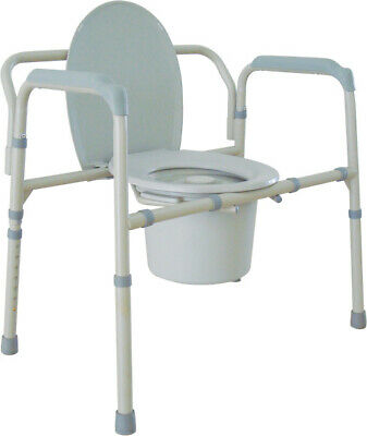 NEW DRIVE Bariatric Folding Commode 11117N-2