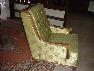 Vintage Antique High Back Chair