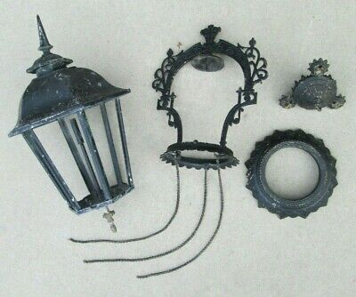 antique 1877 Victorian gas lamp lantern ceiling hanging light fixture