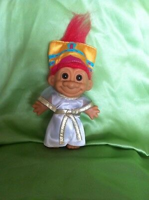 Russ Troll Nefertiti Egyptian Queen VERY Rare & collectable Egypt doll 5 INCH
