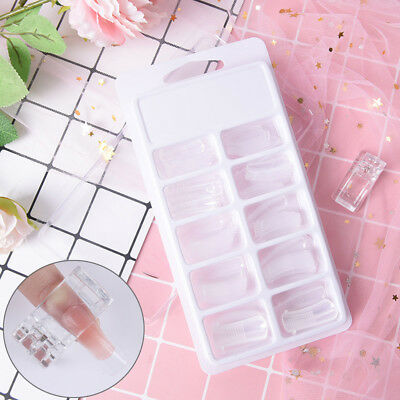 100x building poly gel nail forms mold tips extension dual with 1X clip IO