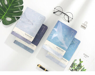 1PC Fresh Pattern Color Page Hardcover Student Notebook Diary Travel Journal