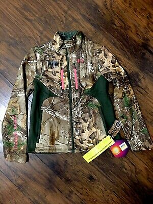 ef64b85841bb4 Under Armour Women's Speed Freek Cold Gear Scent Camo Jacket 1247079 340 M  $199