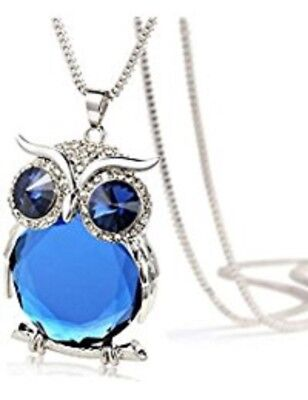 Haunted Mystical Item ACTIVE Blue Crystal Owl Necklace
