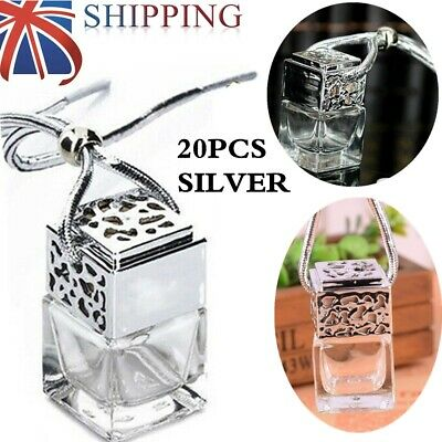 20 Silver Gadget Diffuse Car Perfume Empty Air Bottle Hanging Ornament Freshener