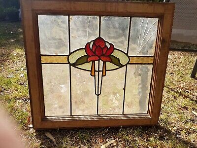 Original Australiana Victorian Waratah Window