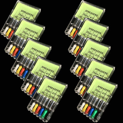 6 Pcs/Box Dental Endodontic File Root Canal Needles Spreaders 22 Sizes To Select