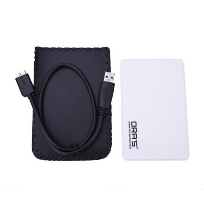 USB 3.0 to SATA 2.5 External Hard Drive Disk HDD Enclosure Case Caddy White Blue