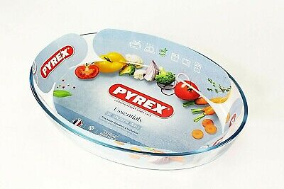 Pyrex Dishes Baking Tray 3L Heat Resistant Glass Oval ,Casserole Pie Bake-ware