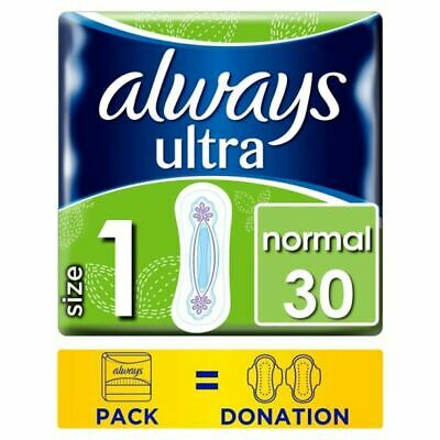 Always Ultra Normal Size 1 Sanitary Towels 30