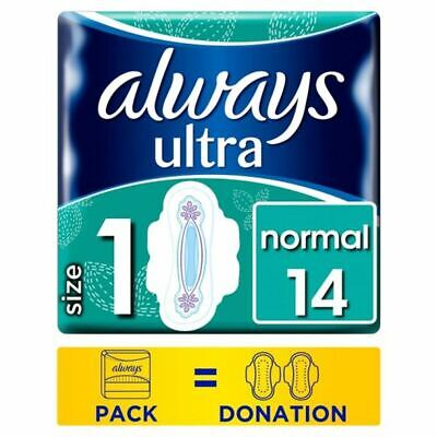 Always Ultra Normal Size 1 Sanitary Towels With Wings 14 Pack