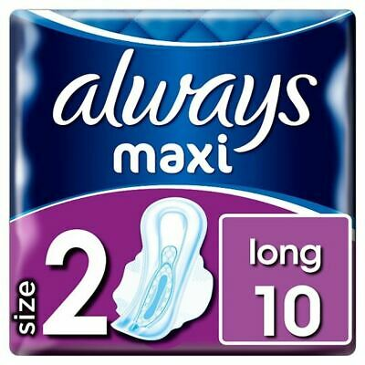 Always Maxi Long Sanitary Towels With Wings 10