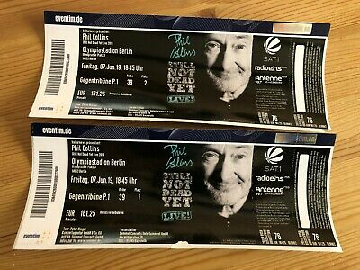 2x Phil Collins Berlin Konzertkarten Tickets Konzertticket 7.06.2019 18.45 Uhr