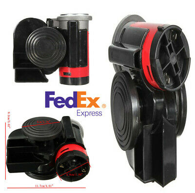 12V 139db Black Snail Compact Air Horn for Car Vehicle Motorcycle Yacht Boat SUV
