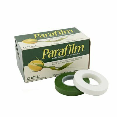 Florist Parafilm Tape White or Green Rolls