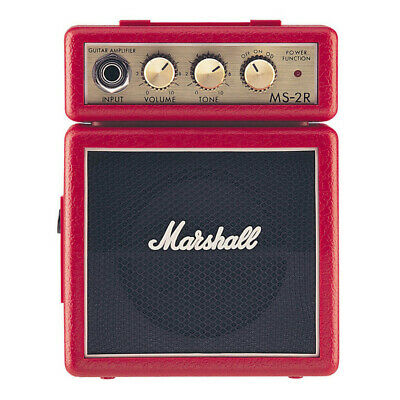 Red Micro Guitar Marshall Amp Small Bass Speaker, Pocket Musicians Amplifier New