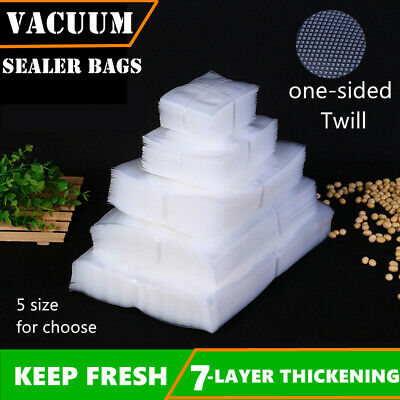 100pc Vacuum Food Storage Sealer Bags Precut Pouches Textured Heat Seal Cryovac
