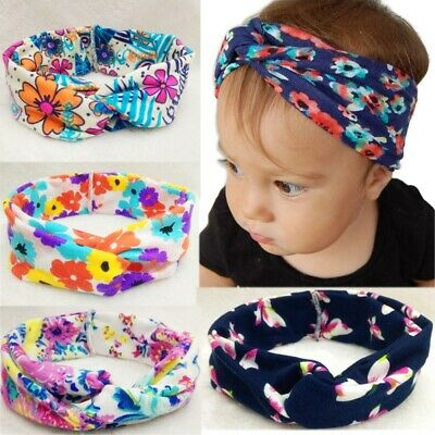 new Newborn Headband Cotton Elastic Baby Print Floral Hair Band Girls Bow-knot