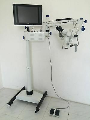 5 Step Floor Stand Dental Microscope - Manual Fine Focusing