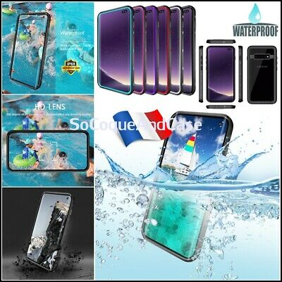 Etui Coque Etanche Waterproof Shockproof Case Cover Samsung Galaxy S10, S10+