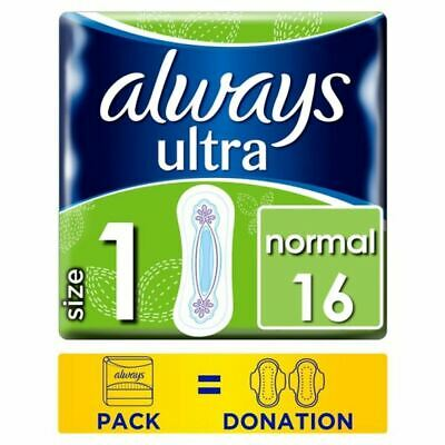 Always Ultra Normal Size 1 Sanitary Towels 16