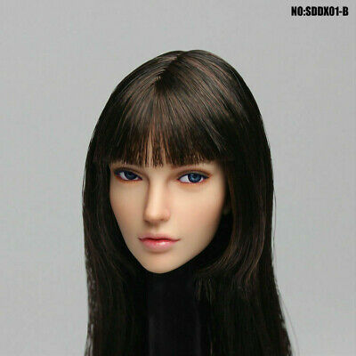 In-Stock 1//6 Scale SUPER DUCK SDDX01 Movable Eye Female Head A~C H#pale