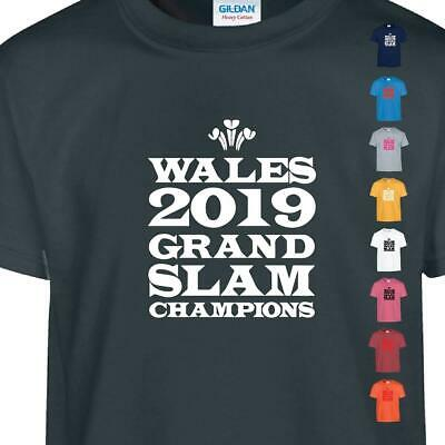 Winners Wales Rugby Grand Slam Nations 2019 Champions T-Shirt Welsh Top Cymru