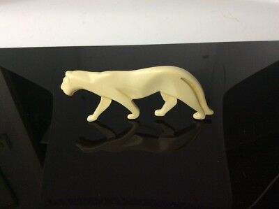Vintage Art Deco panther brooch / lapel pin, c1930s, early plastic