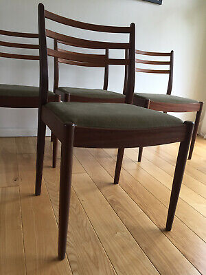 4 Vintage Retro Mid Century 1960s G PLAN Teak Danish Era Dining Chairs DELIVERY
