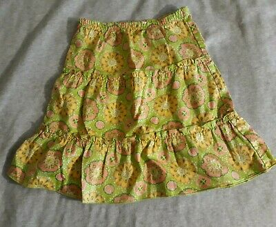 5f6a8842974 KC PARKER (HARTSTRINGS) Girls Skirt Green   White Floral Size 6 ...