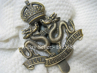 British Colonial Era Royal Hong Kong Regiment (V) Large KC's Cap Badge