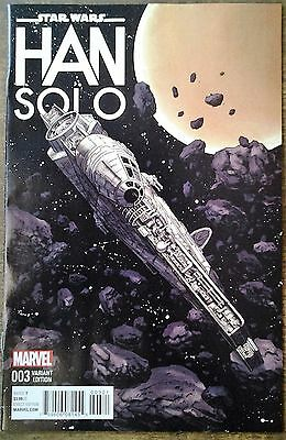 Star Wars: Han Solo #3. Awesome Millenium Falcon Variant. 1St Print Oct 16 Nm/M