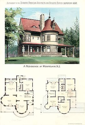 Montclair, N. J.   -  Scientific American Architects and Builders Edition - 1892