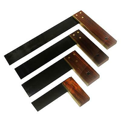 """3"""", 6"""", 9"""" Or 12"""" Hardwood Try Set Square - Woodworking Carpenter Wood Tool"""