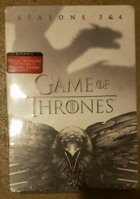 Game of Thrones Complete Season 3-4 DVD USA Region-1 NEW SEALED 3 4 Three Four