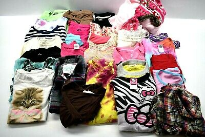 Lot Of 30 Girls Youth 8/10 Tops Sweat Shirts Long & Short Sleeves Casual Spring