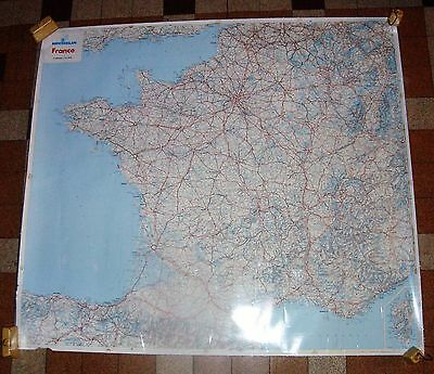 CARTE DE FRANCE  plastifier MICHELIN 1994 110 cm/99 cm