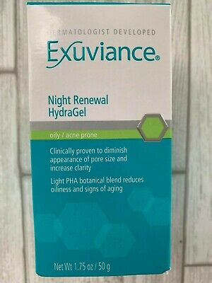 Exuviance Night Renewal Hydragel 1.75 Oz NEW Free Shipping Retails $48.00