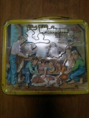 Vintage 1973 The Waltons, Aladdin Metal Lunchbox with Thermos handle missing