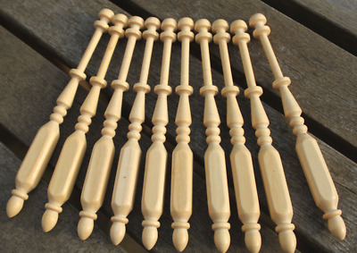 Light Wood Square Lace Bobbins - ten Guatambu bobbins