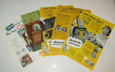 Vintage TV and Radio Adverts, Zenith, IT&T and Motorola Portables.