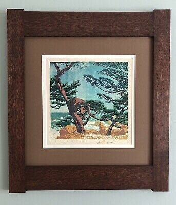 Mission Style Gustave Baumann Arts & Crafts Framed Print- Pacific Shore Line