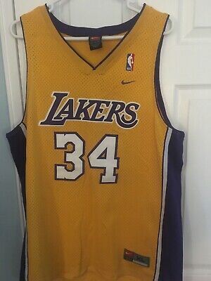 0bda3c6c8 Los Angeles Lakers Nike Shaquille Shaq O neal jersey Size XL Rare Sewn In