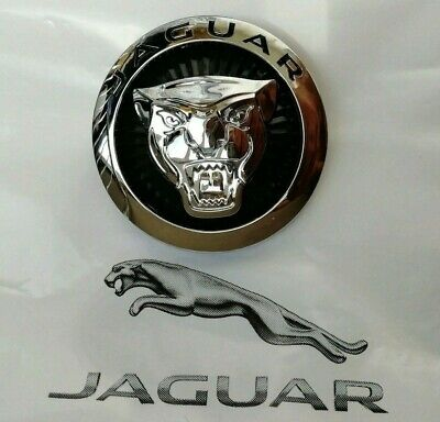 ⭐️⭐️⭐️ JAGUAR GROWLER GRILLE BADGE EMBLEM  BLACK 70mm XJ /& XF ⭐️⭐️⭐️