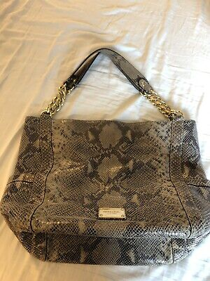 6f6e2ee90828 PREOWNED MICHAEL KORS Snakeskin Tote Purse - $70.00 | PicClick