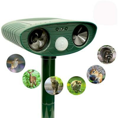 Environmentally Friendly Solar Infrared Sensor Ultrasonic Animal Repeller EA9