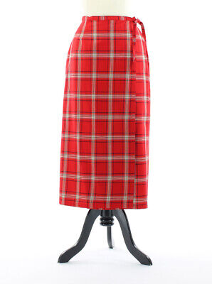 2019 Latest Design Crazy Horse Petite 10p Red White Black Cotton Plaid Wrap Straight Skirt Clothing, Shoes & Accessories Maternity